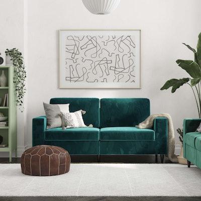 Green Velvet Cooper Sofa