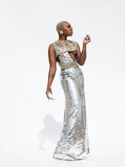 Cynthia Erivo wearing Louis Vuitton at the 2021 Grammys.