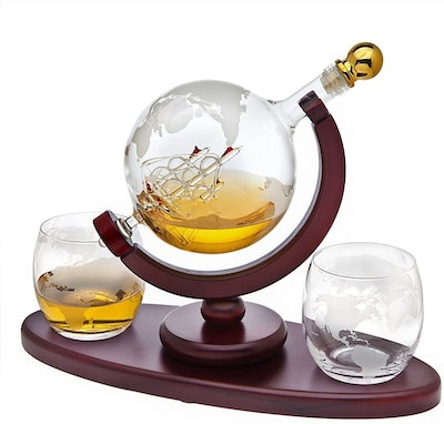 Godinger Whiskey Decanter Globe Set (3 Pieces)