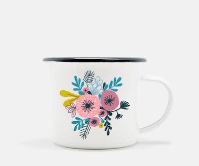 Toshisworld - Flores de otoño Camp Mug