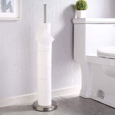 KES Free Standing Toilet Paper Holder