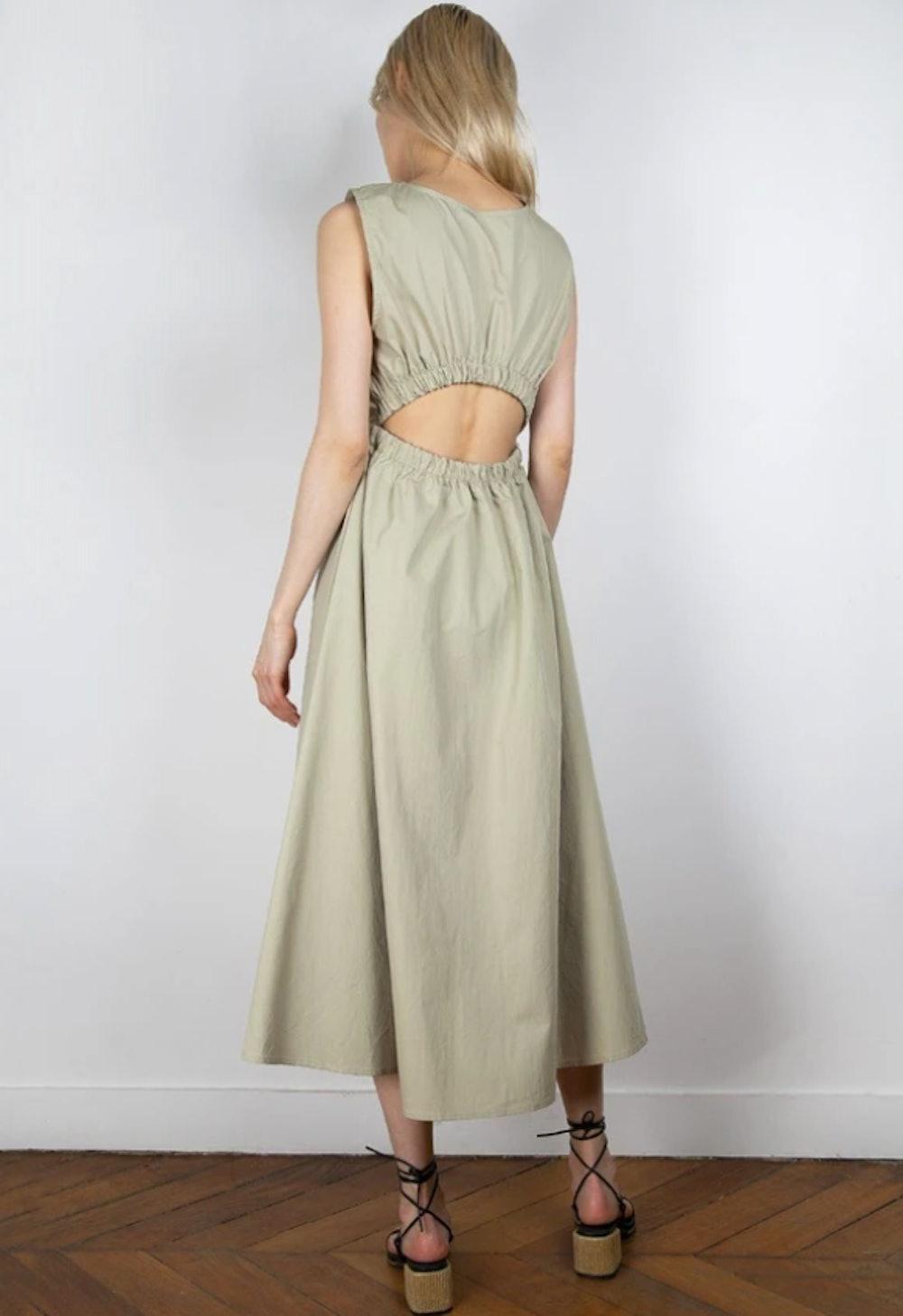 Erica Elastic Open Dress