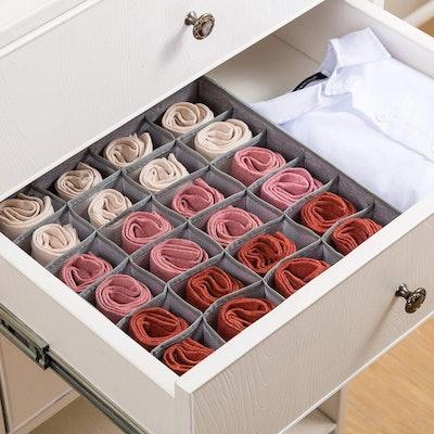 Qozary Socks & Underwear Drawer Divider (2-Pack)