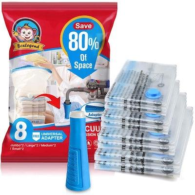 BoxLegend Premium Vacuum Storage Bags (8-Pack)