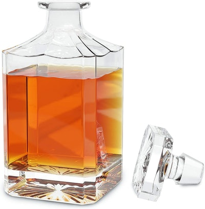 Fine Occasion Crystal Glass Whiskey Decanter