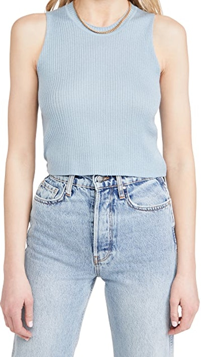 Angie Cropped Cashmere Top