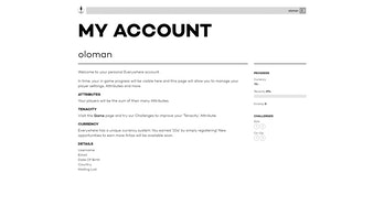 Everywhere account page