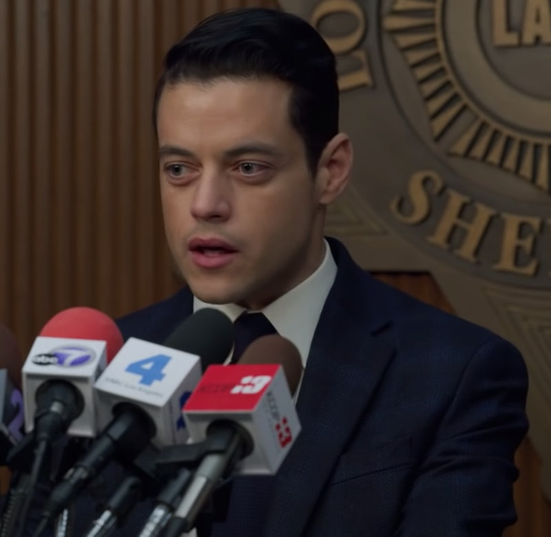 Rami Malek in Little Things holds a press conference