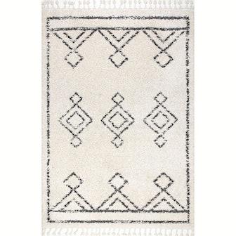 Mackie Moroccan Diamond Tassel Rug