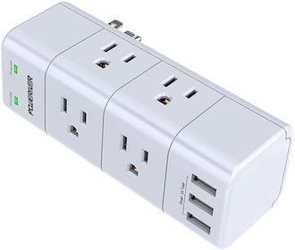 POWERIVER Outlet Extender with Rotating Plug