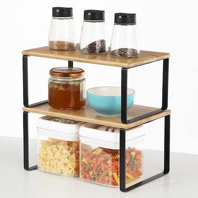 SONGMICS Cabinet Shelf Organizers (2-Pack)