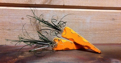 Rustic Easter Carrot Decoration