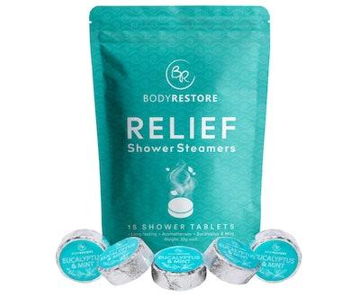 Body Restore Essential Oil Shower Steamer Set (15-Pack)