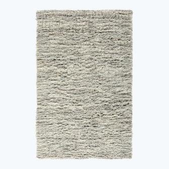 Auckland Natural Wool Shag Rug