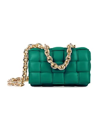 The Chain Cassette Padded Leather Shoulder Bag