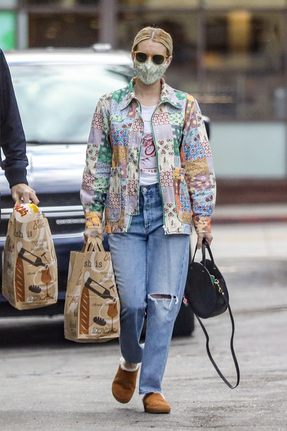 CAPTION: New parents Emma Roberts and her hubby Garrett Hedlund leave their newborn baby boy Rhodes Robert Hedlund at home as they go grocery shopping together at Bristol Farms in Beverly Hills.
