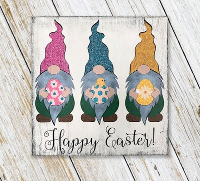 Easter Gnome Sign