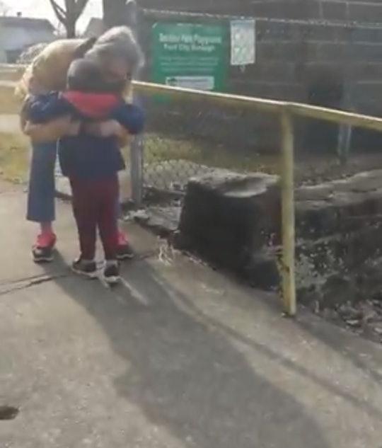 Kelsey Chvala filmed the moment when her son hugged his grandma for the first time in months.