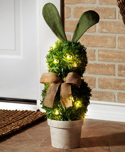Lighted Bunny Topiary