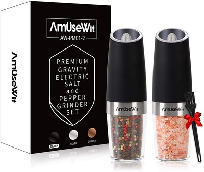 AmuseWit Grvity Electric Salt and Pepper Grinder