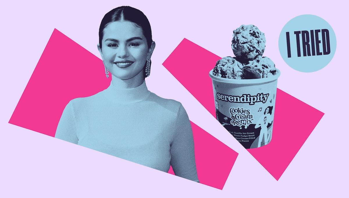 Selena Gomez and her Serendipity ice cream flavor, Cookies  & Cream Remix