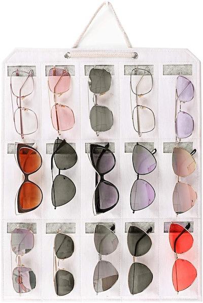 ESINGMILL Eyeglass & Sunglasses Hanging Wall Organizer