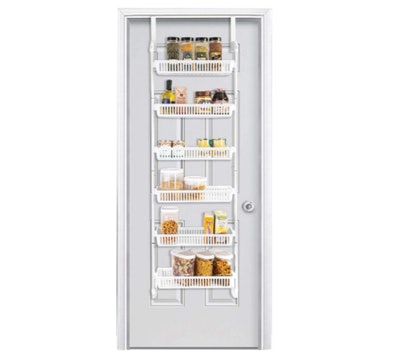 Smart Design Over The Door Pantry Organizer Rack