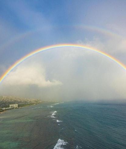 Rainbow over east Oahu.