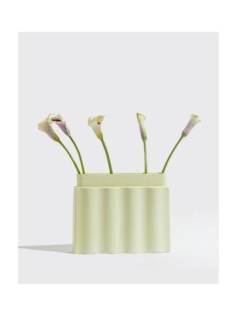 Lime Waves Vase