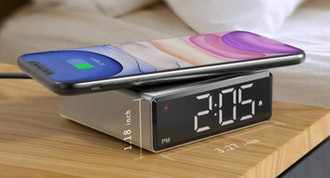 NOKLEAD Digital Alarm Clock with Qi Wireless Charger