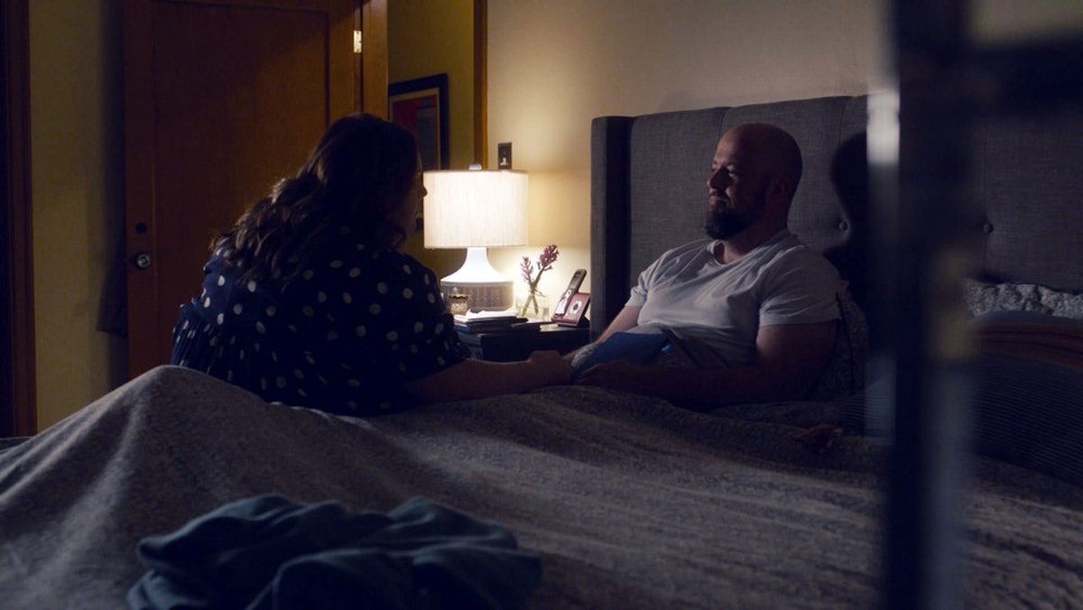 Chrissy Metz and Chris Sullivan as Kate and Toby in This Is Us