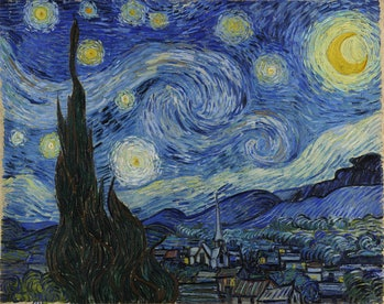 The Vincent Van Gogh painting Starry Night