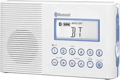Sangean Portable Bluetooth Shower Radio