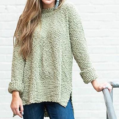 MEROKEETY Sherpa Knit Sweater
