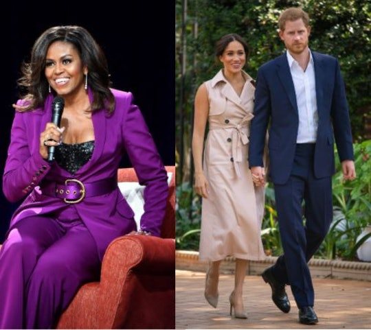 """Michelle Obama says she prays there is """"forgiveness, clarity and love,"""" between Prince Harry, Meghan Markle and the rest of the royal family."""