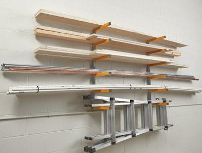 Bora Wood Organizer and Lumber Storage Wall Metal Rack (6-Level)