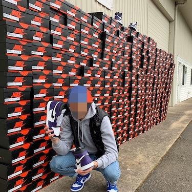 Nike VP Ann Hebert son Joe Hebert sneaker reselling.