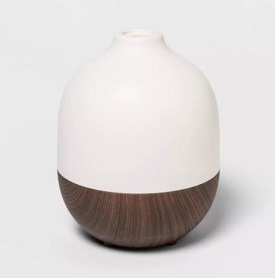 Project 62 - 300ml Woodgrain Oil Diffuser White/Brown