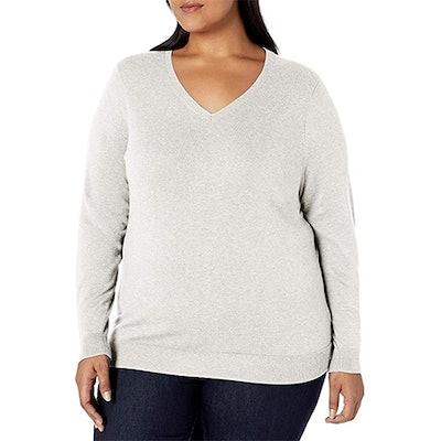 Amazon Essentials Plus Size Lightweight V-Neck Sweater