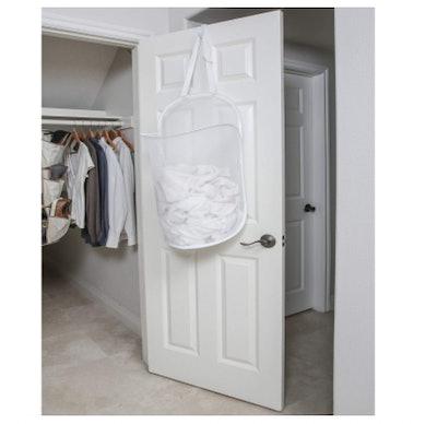 Smart Design Deluxe Mesh Over The Door Pop Up Hamper