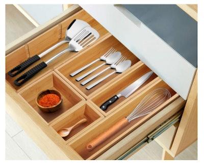 Kootek Bamboo Kitchen Drawer Organizer (6-Pieces)
