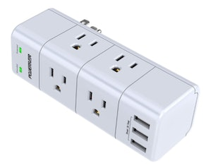POWERIVER Surge Protector with Rotating Outlets