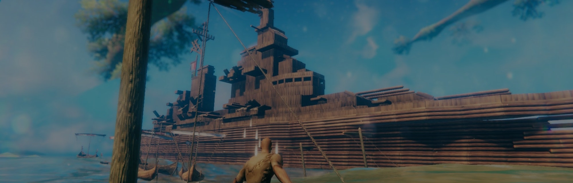 A player of 'Valheim' recreated the USS Iowa battleship in the Viking survival game.