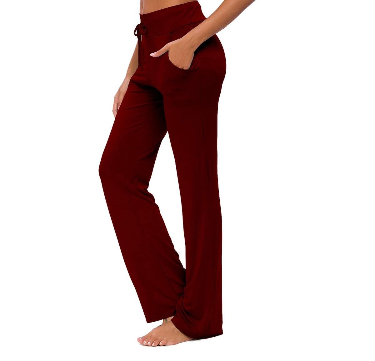 ADANIKI Drawstring Flare Yoga Pants