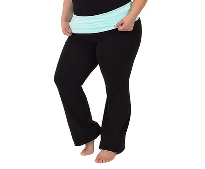 Stretch Is Comfort Foldover Plus-Size Yoga Pants