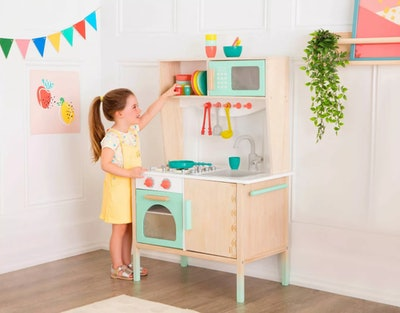 B. toys Wooden Play Kitchen - Mini Chef Kitchenette