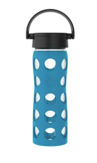 16oz Glass Water Bottle with Silicone Sleeve and Classic Cap