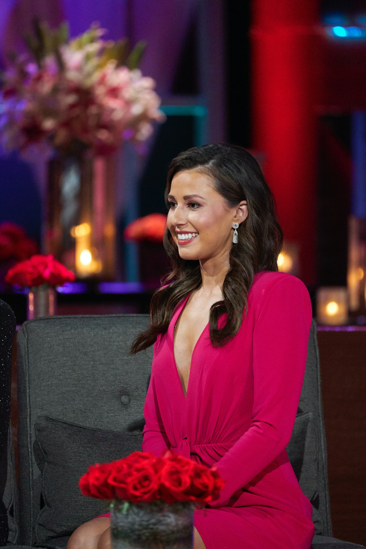 """Katie Thurston in The Bachelor's """"After the Final Rose"""" special."""