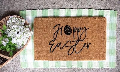Hoppy Easter Doormat