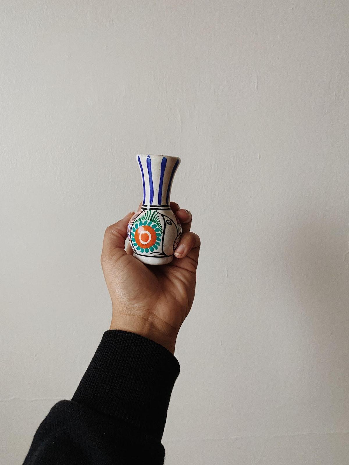 Vintage Hand-Painted Vase